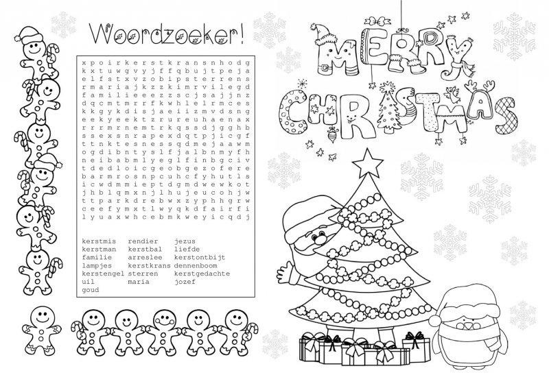 Kleurplaat Verjaardag Cadeautjes Kerst Placemat Mijn Mooiste Feestje